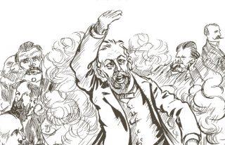 Fragment uit de cover van 'Tussen politiek & publiek'
