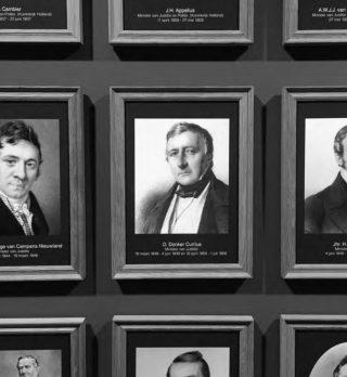 Het portret van Donker op de ministersgang van het ministerie van Justitie en Veiligheid. Bron: Mathijs van de Waardt