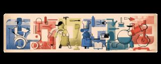 Google Doodle ter gelegenheid van de Dag van de Arbeid