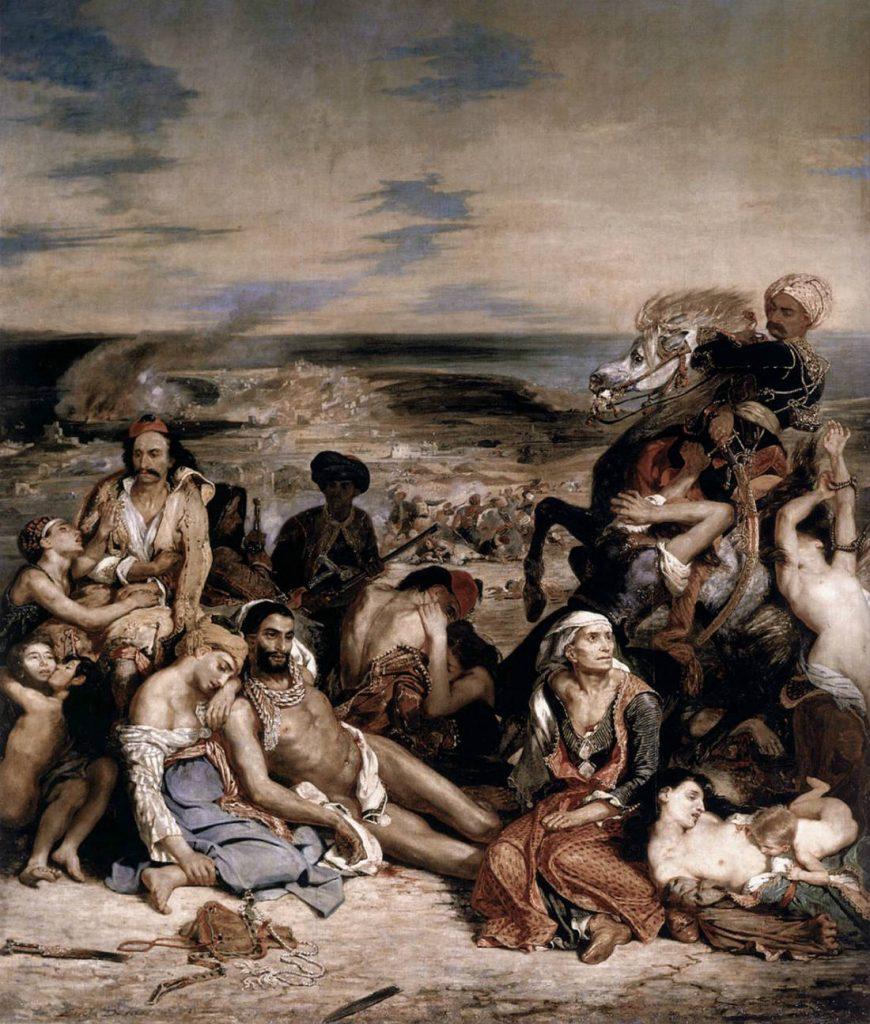 Het bloedbad van Chios - Eugène Delacroix