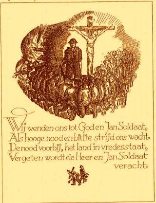 De prent en gedicht (Archief Instituut Militaire Geschiedenis, Den Haag)