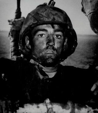 Amerikaanse soldaat uit de Tweede Wereldoorlog met shellshock (Publiek Domein - wiki)