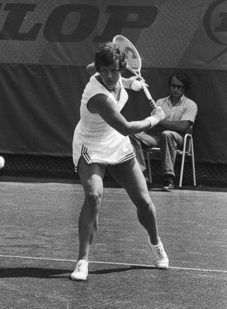 Betty Stöve op 4 juli 1976 in Scheveningen (CC0 - Anefo - Hans Peters - wiki)