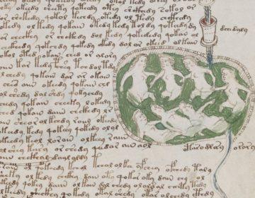Pagina uit het Voynich-manuscript (Publiek Domein - wiki)
