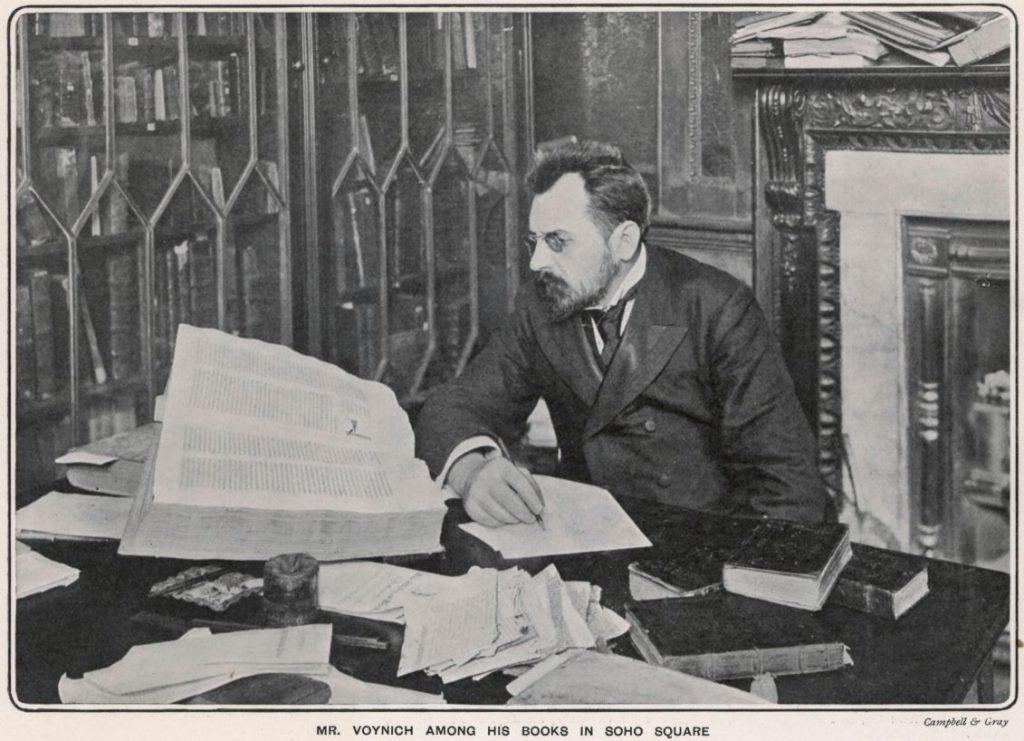 De ontdekker van het manuscript: Wilfrid M. Voynich (Publiek Domein - wiki)