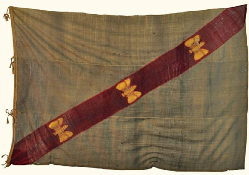 Vlag van Elba onder Napoleon (Publiek Domein - wiki)