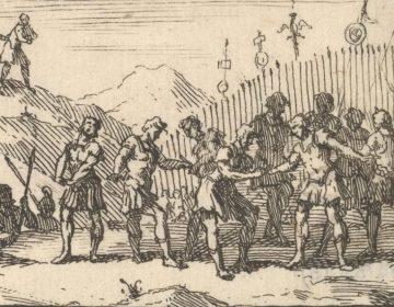 Decimatie in het Romeinse leger. Ets van William Hogarth (Publiek Domein - wiki)