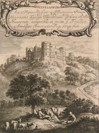 Wewelsburg op een zeventiende-eeuwse prent - Johann Georg Rudolphi (Publiek Domein - wiki)