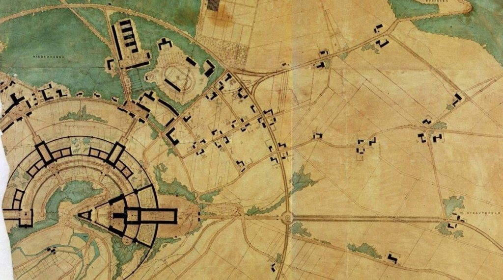 Het megalomane plan rond de Wevelsburg (bron KreisMuseum Wevelsburg)