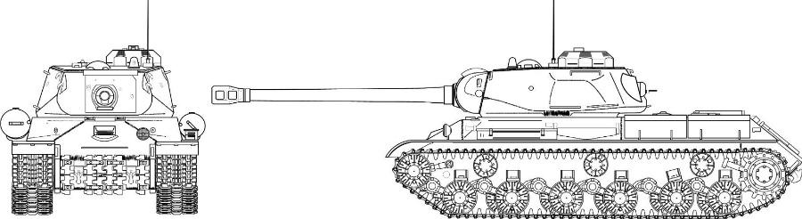 Schematische tekening van de JS-2 (CC BY-SA 3.0 - wiki)
