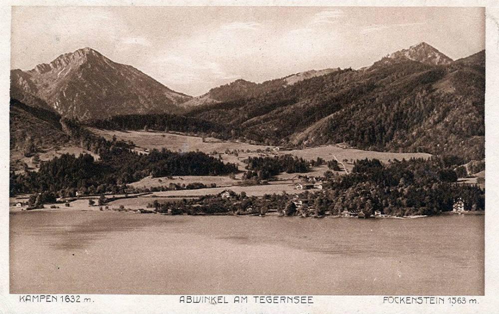 Bad Wiessee op een oude ansichtkaart (Publiek Domein - wiki)