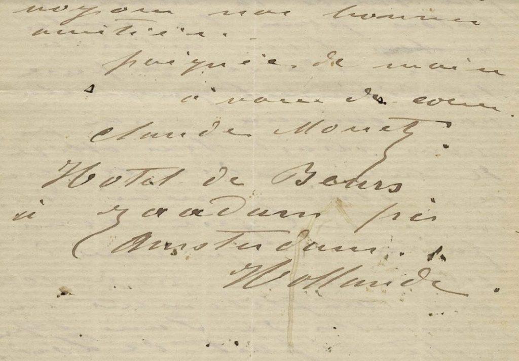 Afsluiting en  handtekening - Collectie Zaans Museum