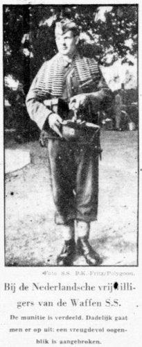 Foto in de Telegraaf van 5 september 1942 (Delpher)