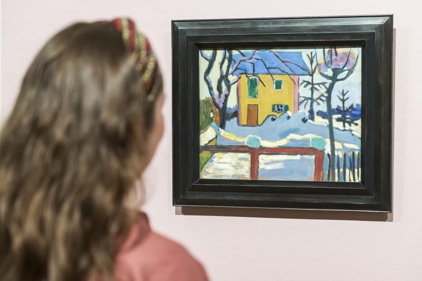 Gabriele Münter, Huis in de winterzon, 1909. Van Gogh Museum, Amsterdam (aankoop met steun van de BankGiro Loterij). Foto: SeeItYourself / Jan-Kees Steenman