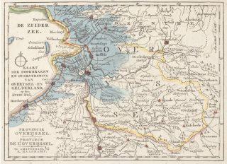 Gevolgen van de stormvloed van 1825 voor de kop van Overijssel. Ook Friesland, Groningen en Zeeuwse polders werden getroffen.