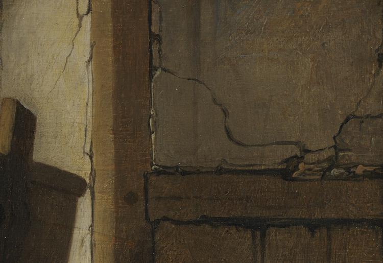 Fragment uit De jonge kunstenaar in zijn atelier