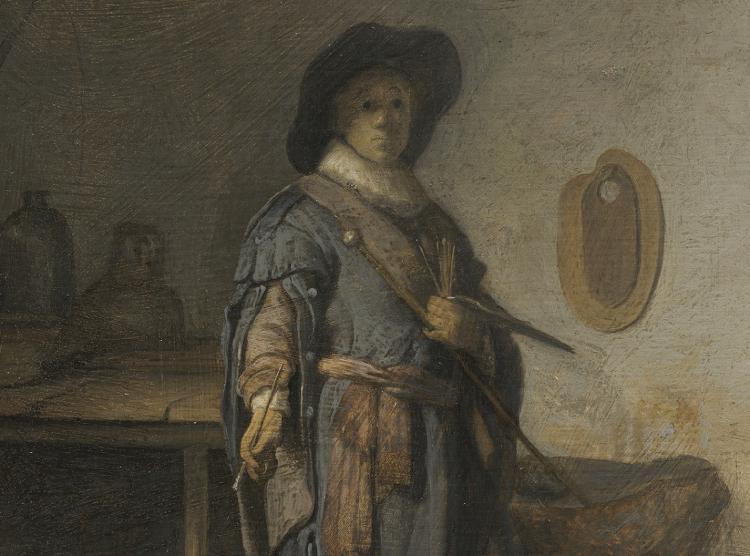 Rembrandt en zijn materialen. Fragment uit De jonge kunstenaar in zijn atelier