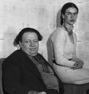 Diego Rivera en Frida Kahlo (Publiek Domein - wiki)