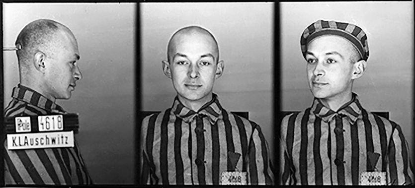 Konstanty Piekarski (Kon), ca. maart 1941 (Bron: Vrijwillig naar Auschwitz)
