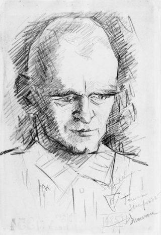 Portret van Witold door Stanisaw Gutkiewicz begin 1942 (Bron: Vrijwillig naar Auschwitz)