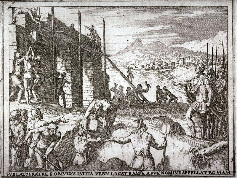 Romulus sticht rome. Door Giovanni Battista Fontana (cc/publiek domein)