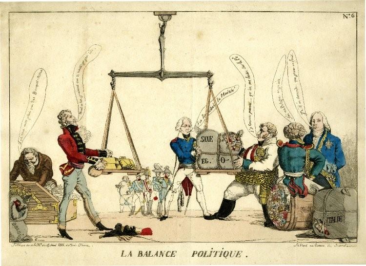 Het idee van de Europese balans werd reeds ontwikkeld tijdens het Congres van Wenen - Afb: British Museum - 1989,0930.78, AN100487001