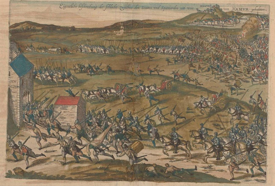 De Slag bij Gembloers - Frans Hogenberg (Publiek Domein - wiki)