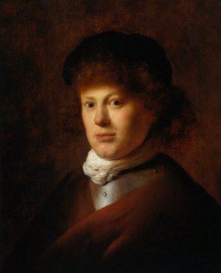 Portret van de jonge Rembrandt (1629), gemaakt door Jan Lievens (Publiek Domein - wiki)