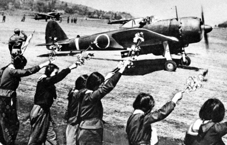Kamikaze - Vertrek van een kamikazepiloot (Publiek Domein - wiki)