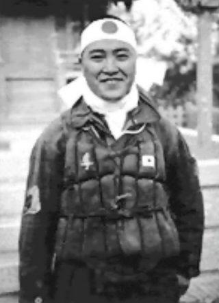 Kamikazepiloot Kiyoshi Ogawa. Boorde zich op 11 mei 1945 in de  USS Bunker Hill (Publiek Domein - wiki)