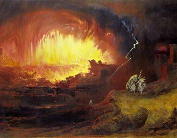 De Verwoesting van Sodom en Gomorra, 1852 - John Martin