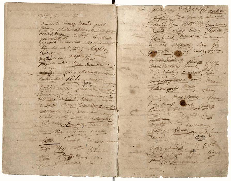 Handtekeningen onder de eed (Publiek Domein - wiki)