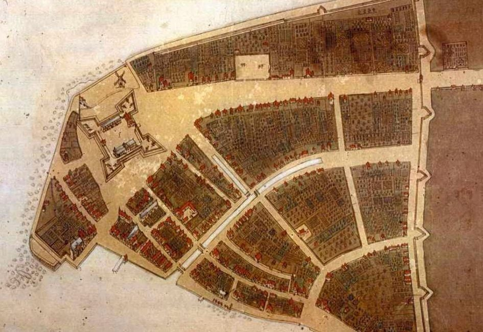 'Afbeeldinge van de Stadt Amsterdam in Nieuw Nederlandt' is de aanduiding op de enige kaart die is overgeleverd van Nieuw-Amsterdam, dat sinds de verovering door de Engelsen in 1667 New York heet.