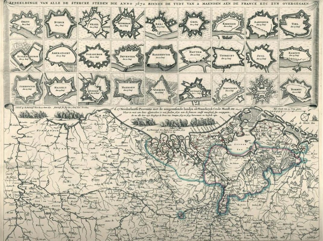 In het 'Rampjaar 1672' werden binnen twee maanden 27 Nederlandse steden door de Fransen, Keulsen en Munstersen veroverd.