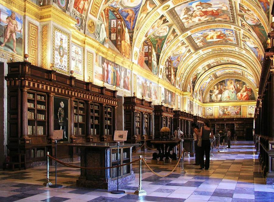 Bibliotheek van El Escorial (CC BY-SA 3.0 - Xauxa - wiki)