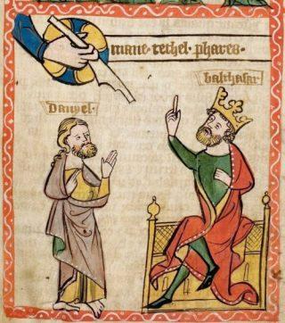 Verbeelding van de geschiedenis op een middeleeuws handschrift (Publiek domein - wiki)
