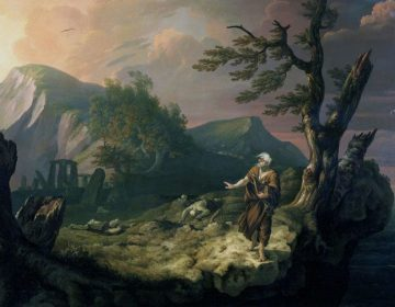 De Bard - Detail van een schilderij van Thomas Jones, 1774 (Publiek Domein - wiki)