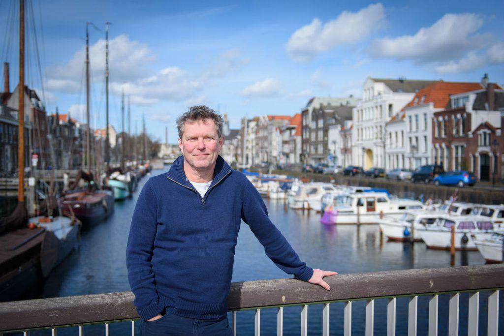 Ad van der Zee in Delfshaven (Eigen foto)