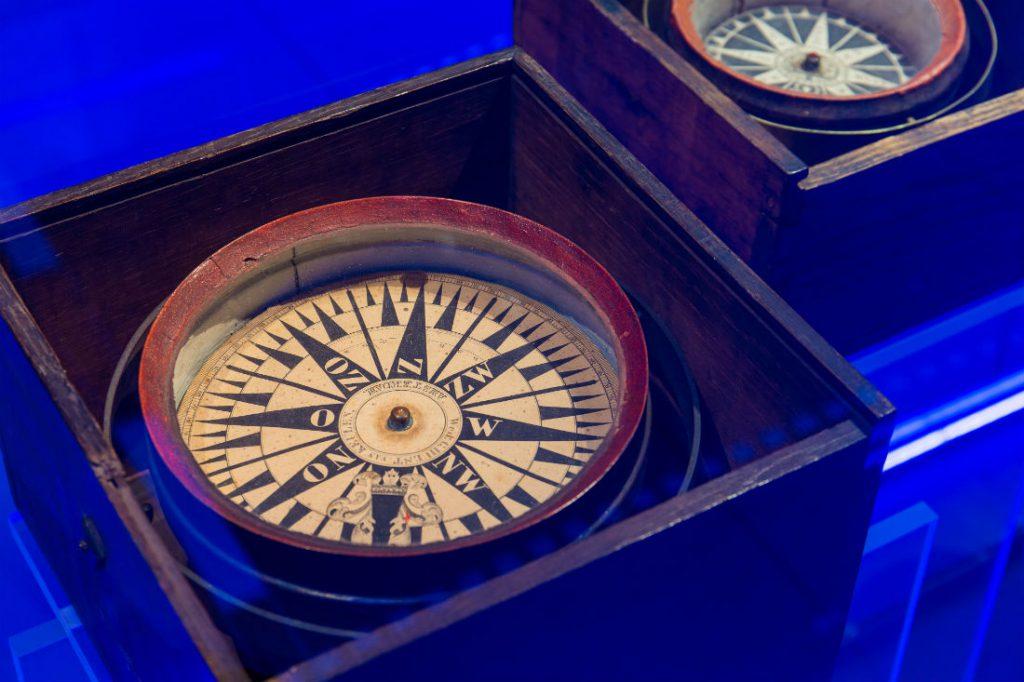 Een kompas, collectie Het Scheepvaartmuseum