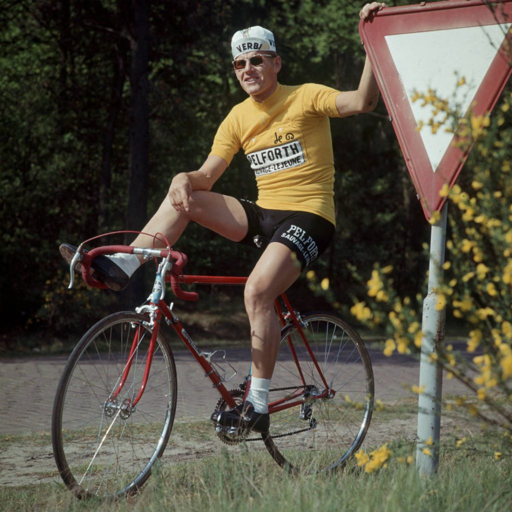 Jan Janssen in zijn gele trui - Louis van Paridon (Beeld: Hollandse helden in de jaren 60)