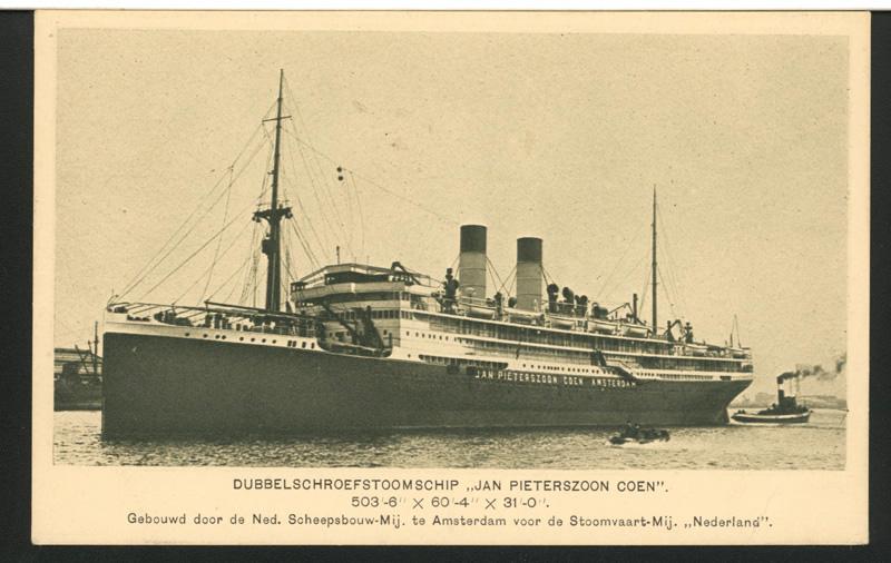 SS JP Coen in volle glorie. (Scheepvaartmuseum)
