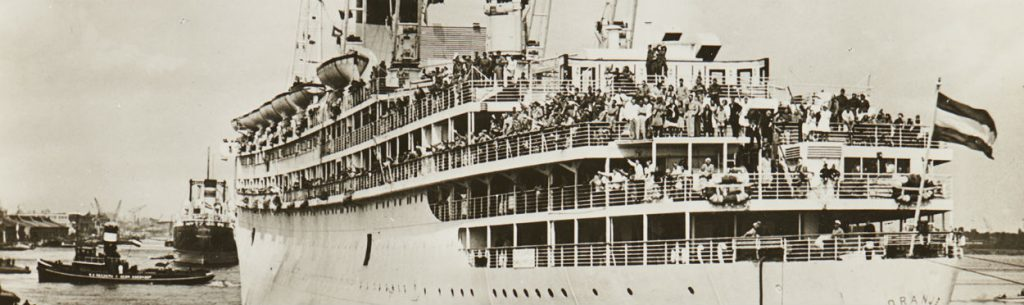 Terugkeer ms Oranje na de Tweede Wereldoorlog