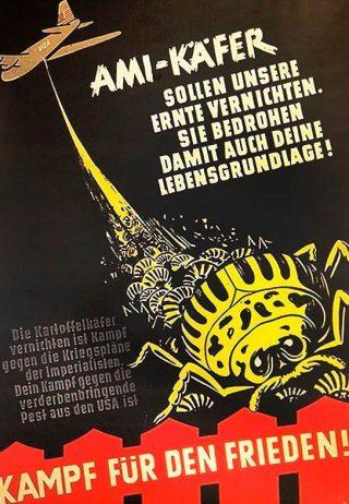 DDR-poster die waarschuwt voor de Ami-Käfer