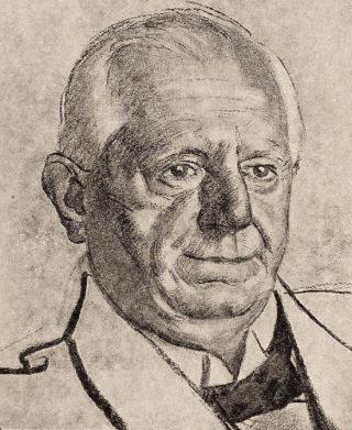 Henri van Kol, tekening van Albert Hahn (Publiek Domein - wiki)