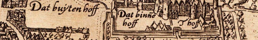 Het Binnenhof in Den Haag, eind zestiende eeuw (Lodovico Guicciardini)