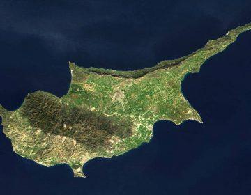 Satellietfoto van Cyprus (Publiek Domein - wiki)