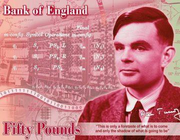 Concept van het Alan Turing-bankbiljet (Bank of England)