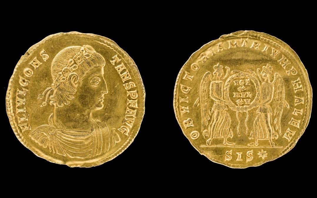 De gevonden munt (Afb: Landkreis Stade - Christina Kohnen)