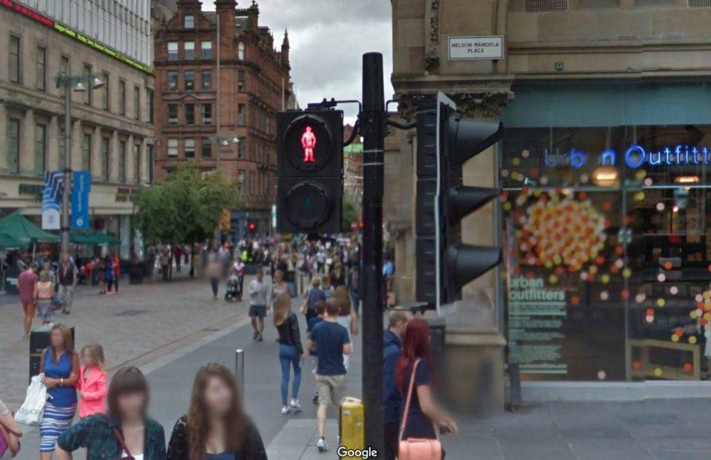 Nelson Mandela Place in Glasgow (Google Street View)