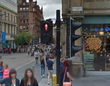 Nelson Mandela Place in Glasgow (Google Street View)